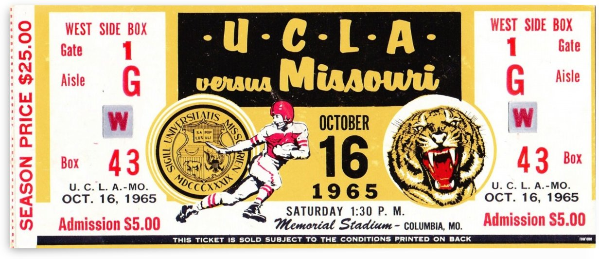 1965 UCLA vs. Missouri by Row One Brand