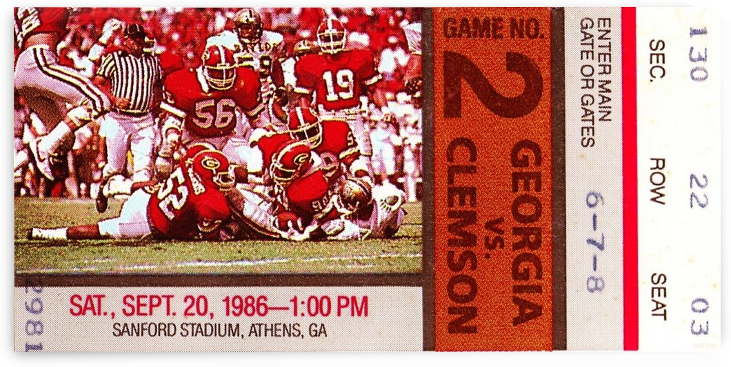 1986 Clemson vs. Georgia by Row One Brand