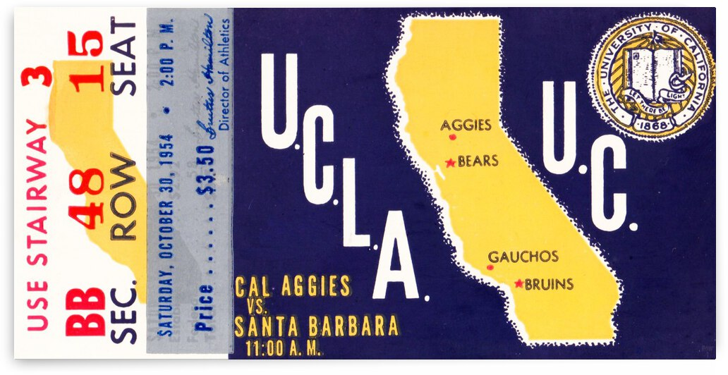 1954 UCLA vs. California by Row One Brand