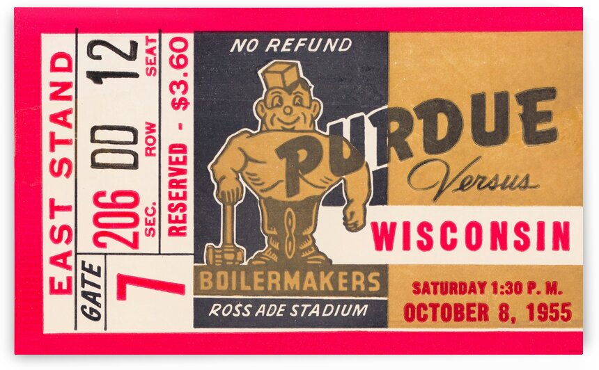 1955 Wisconsin vs. Purdue by Row One Brand