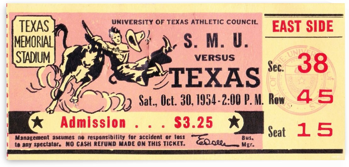 1954_College_Football_Texas vs. SMU_Texas Memorial Stadium_Austin_Row One Brand by Row One Brand