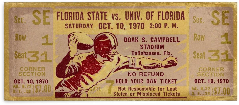 1970 Florida State vs. Florida Ticket Stub Remix by Row One Brand