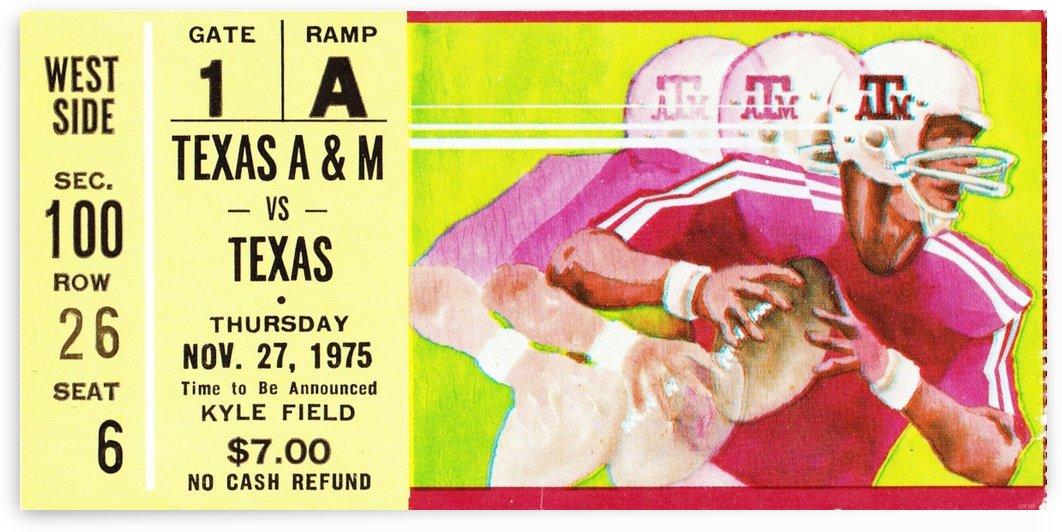 1975 Texas vs. Texas A&M Football Ticket Canvas by Row One Brand