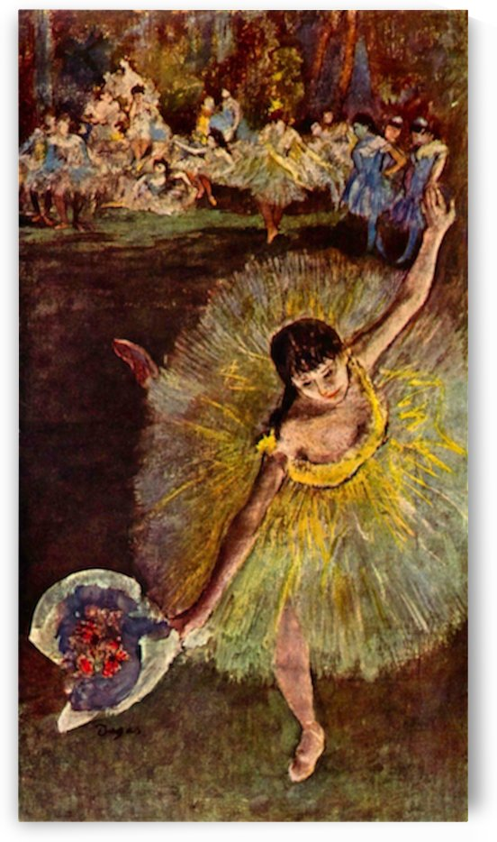 End of the arabesque by Degas by Degas