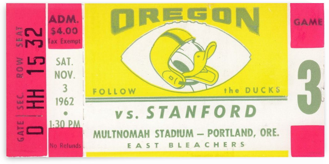 1962_College_Football_Oregon vs. Stanford_Multnomah Stadium_Row One Brand by Row One Brand