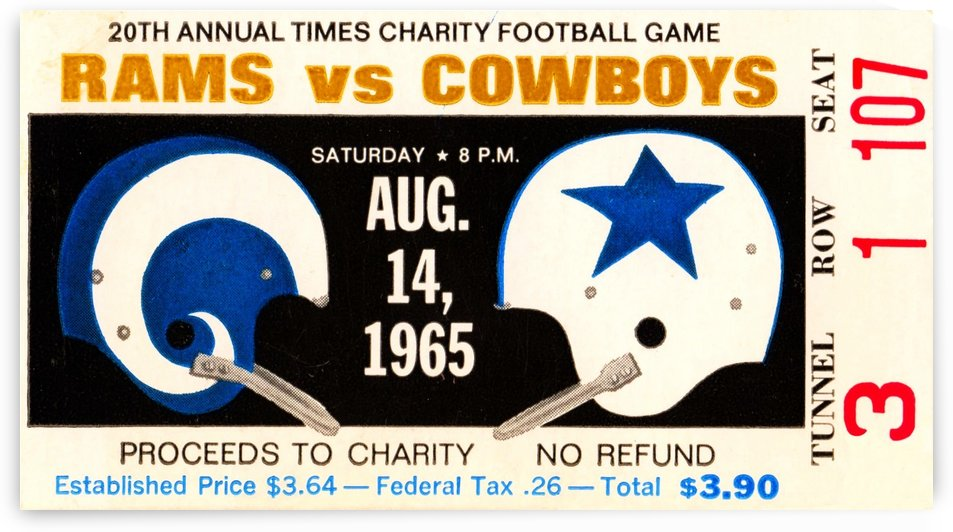 1965 Rams vs. Cowboys by Row One Brand
