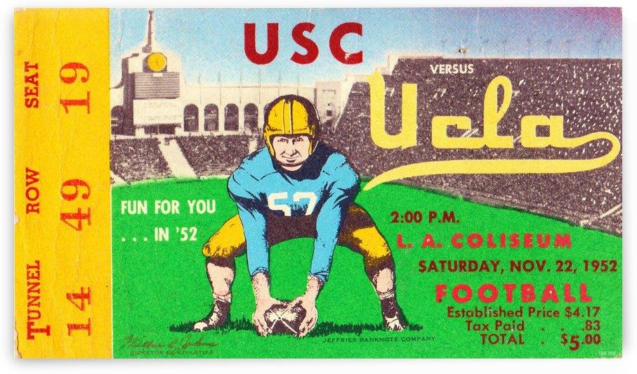 1952 USC vs. UCLA Football Ticket Art by Row One Brand