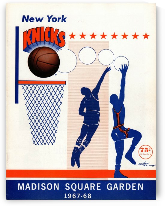 1967 New York Knicks Art by Row One Brand