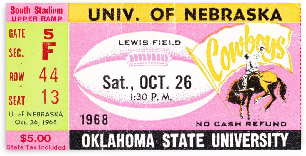 1968 Nebraska vs. Oklahoma State by Row One Brand