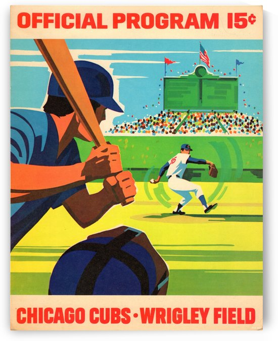 1971 Chicago Cubs Program Canvas by Row One Brand