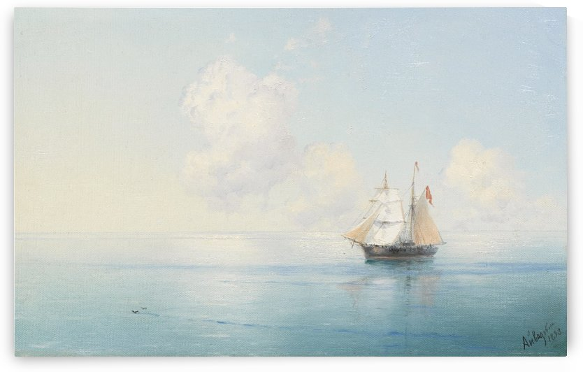 A Calm Morning at Sea by Ivan Aivazovsky