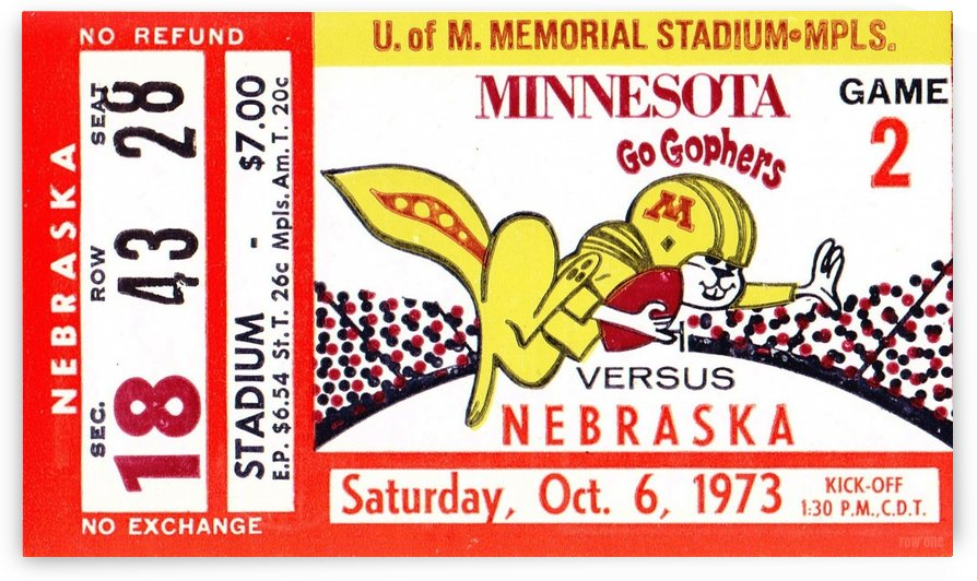 1973_College_Football_Nebraska vs. Minnesota_Memorial Stadium_Minneapolis_Row One by Row One Brand