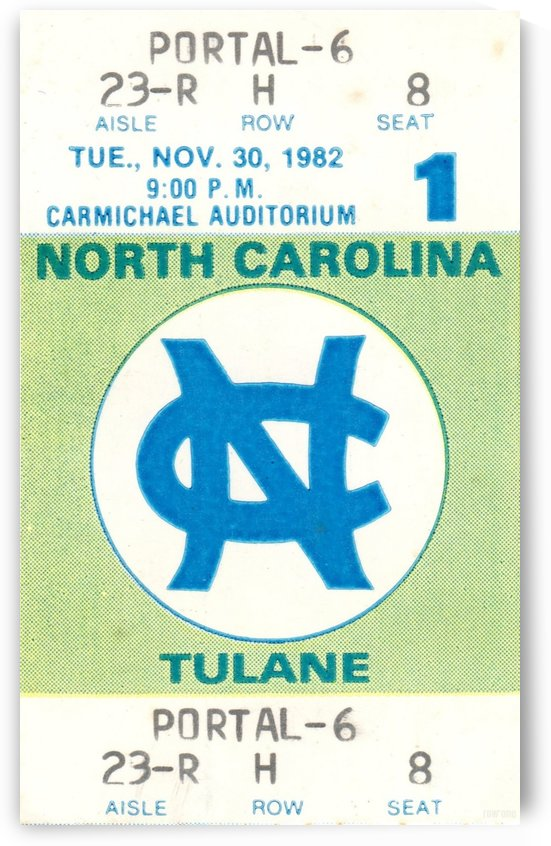 1982 North Carolina vs. Tulane Basketball by Row One Brand