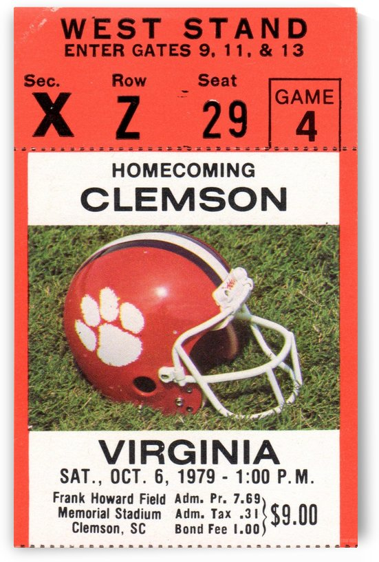 1979 Clemson vs. Virginia by Row One Brand