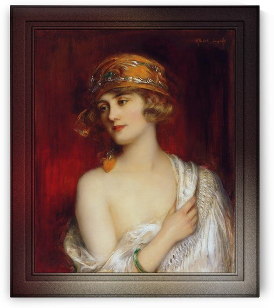 A Young Beauty by Albert Lynch Fine Art Old Masters Reproduction by xzendor7