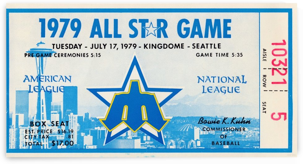 1979 Major League All-Star Game Seattle by Row One Brand