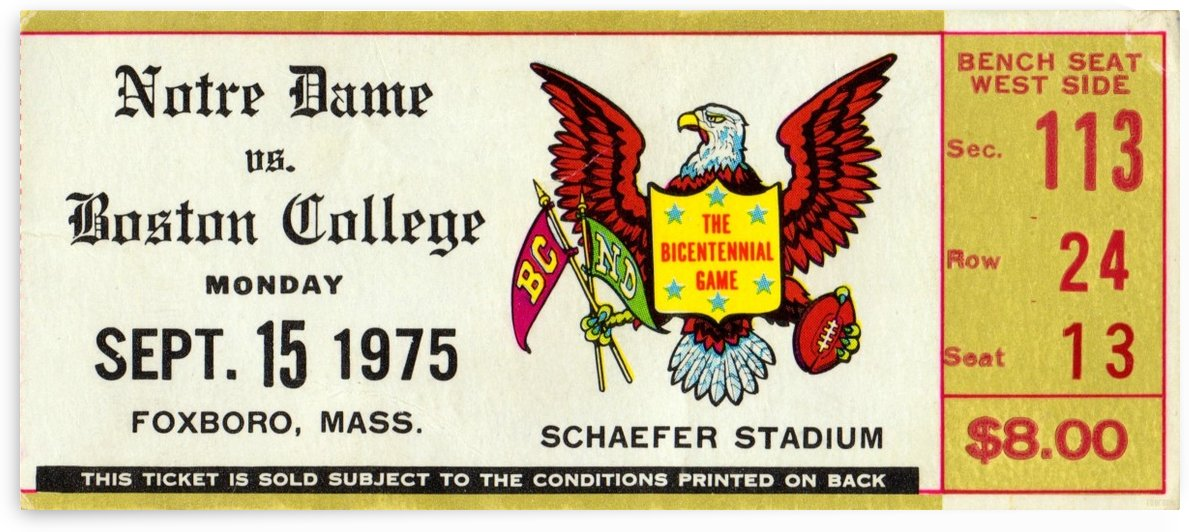 1975_College_Football_Notre Dame vs. Boston College_Schaeffer Stadium_Foxboro_Row One by Row One Brand