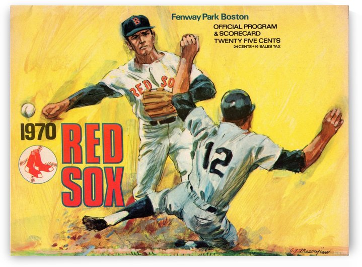 1970_Major League Baseball_Boston Red Sox_Fenway Park_Boston_Program_Row One by Row One Brand