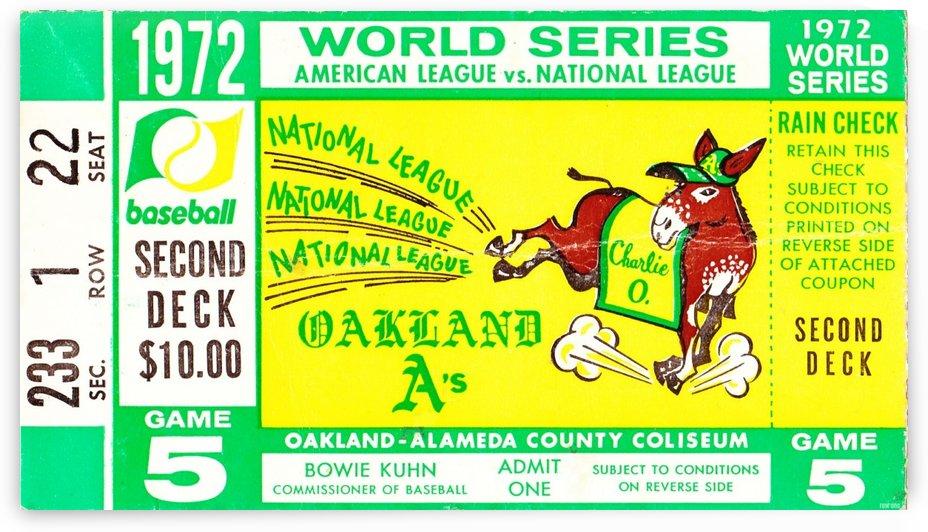 1972_Baseball_World Series_Cincinnati Reds vs. Oakland As_Oakland Alameda Coliseum_Row One by Row One Brand