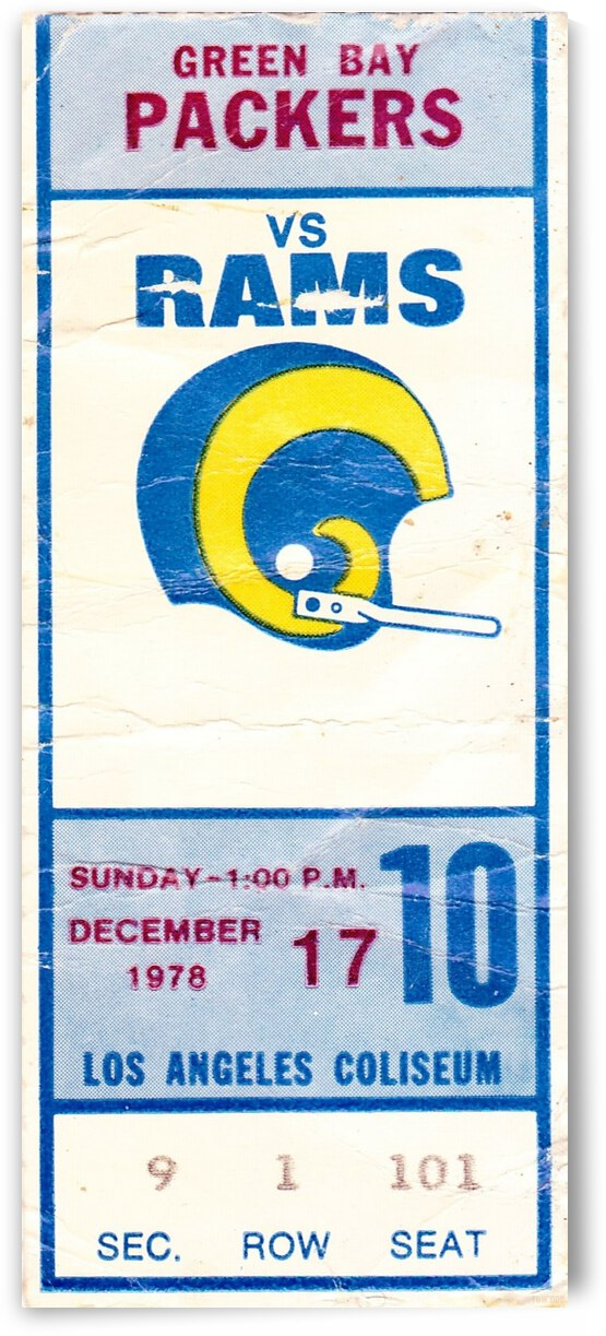 1978_National Football League_Green Bay Packers vs. Los Angeles Rams_Los Angeles Coliseum_Row One by Row One Brand
