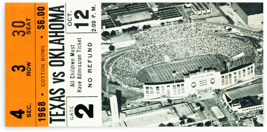 1968 Texas vs. Oklahoma by Row One Brand