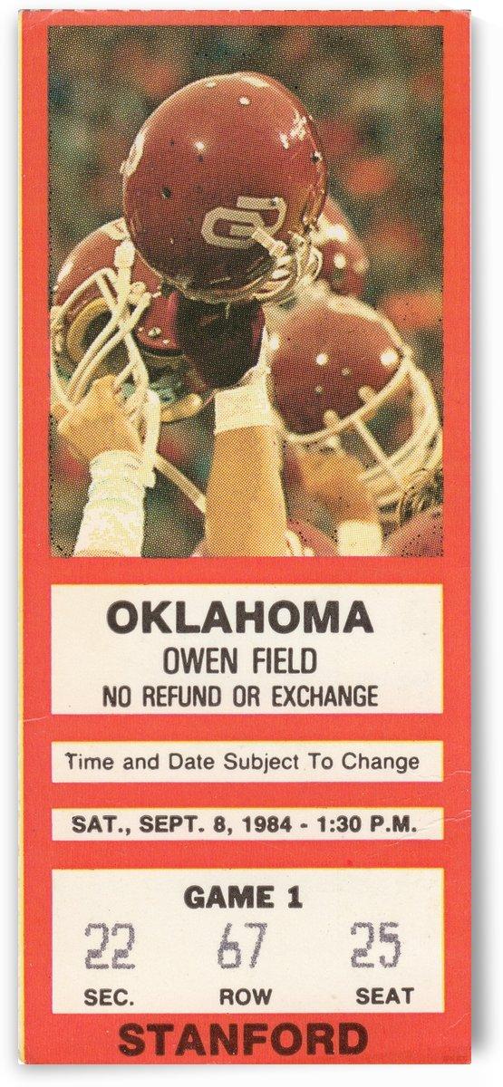 1984_College_Football_Oklahoma vs. Stanford_Owen Field_Row One by Row One Brand