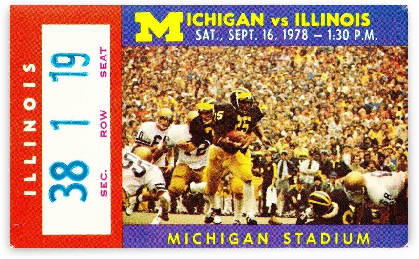 1978_College_Football_Illinois vs. Michigan_Michigan Stadium_Ann Arbor_Row One by Row One Brand