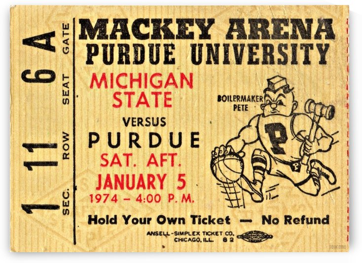 1974 Michigan State vs. Purdue by Row One Brand