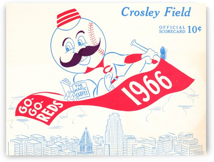 1966 Cincinnati Reds Scorecard by Row One Brand