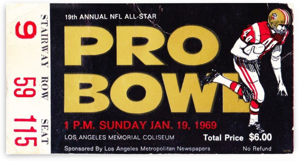 1969_National Football League_Pro Bowl_Los Angeles Coliseum_Row One by Row One Brand