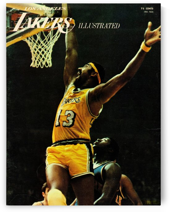 1969 Lakers Wilt Chamberlain Dunk by Row One Brand