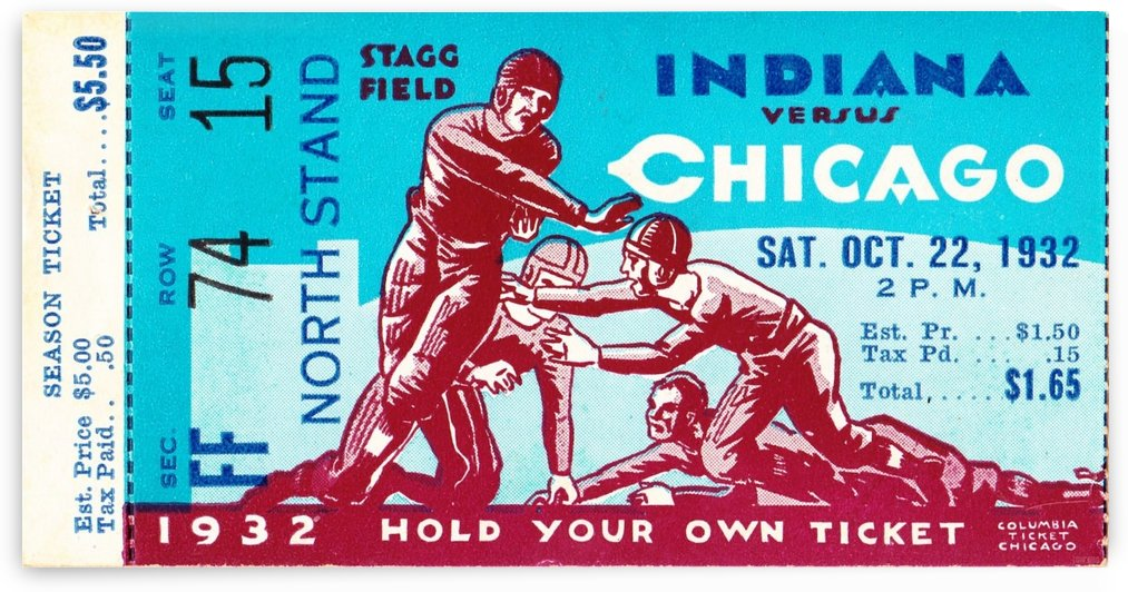 1932 Indiana vs. Chicago by Row One Brand