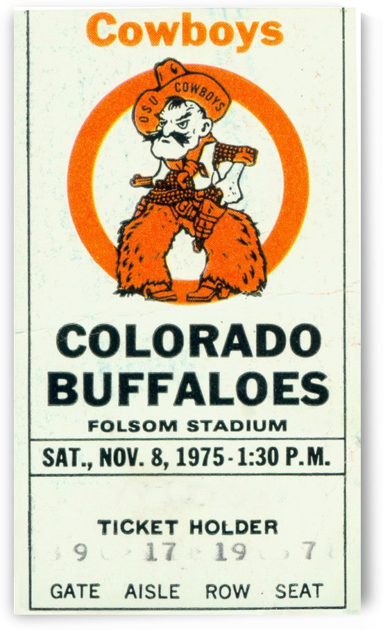 1975_College_Football_Oklahoma State vs. Colorado_Folsom Field_Boulder_Row One by Row One Brand