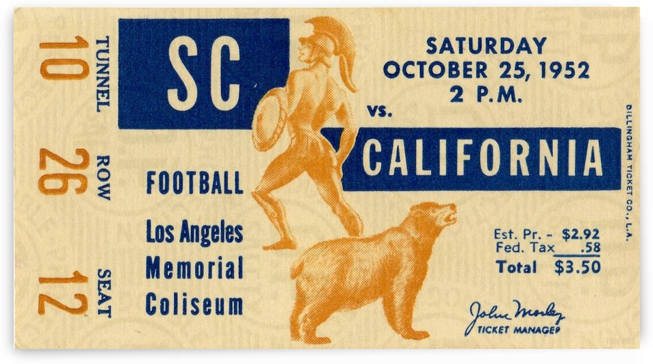 1952_College Football_USC vs. California_Los Angeles Coliseum_Row One Brand by Row One Brand