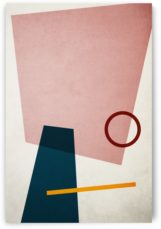 Shapes 01 - Abstract Geometric Art Print by Adriano Oliveira