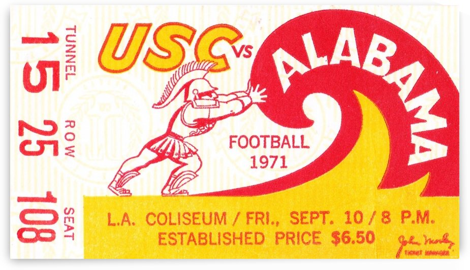 1971_College_Football_Alabama vs. USC_Los Angeles Coliseum_Row One by Row One Brand