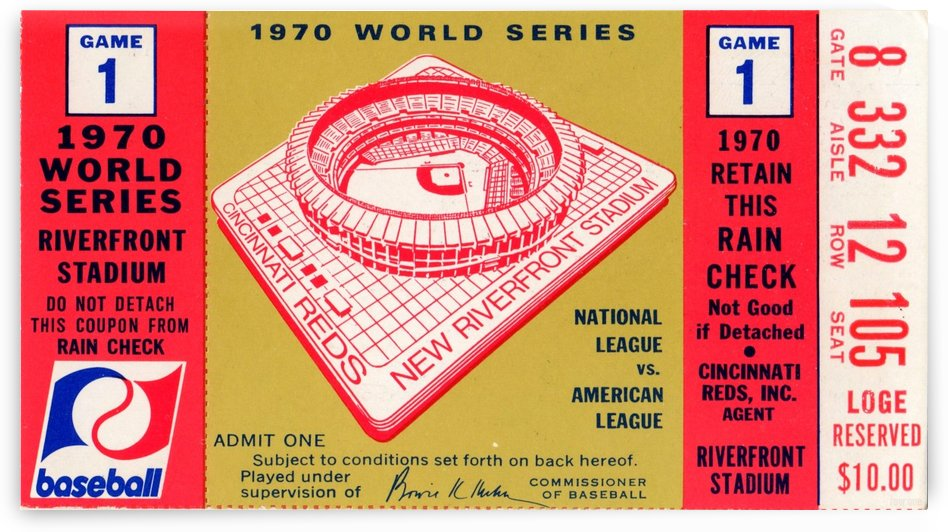 1970_Major League Baseball_World Series_Cincinnati Reds vs. Baltimore Orioles_Riverfront Stadium by Row One Brand