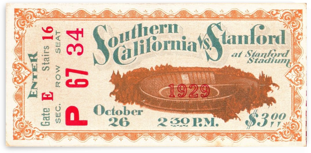 1929 USC vs. Stanford by Row One Brand