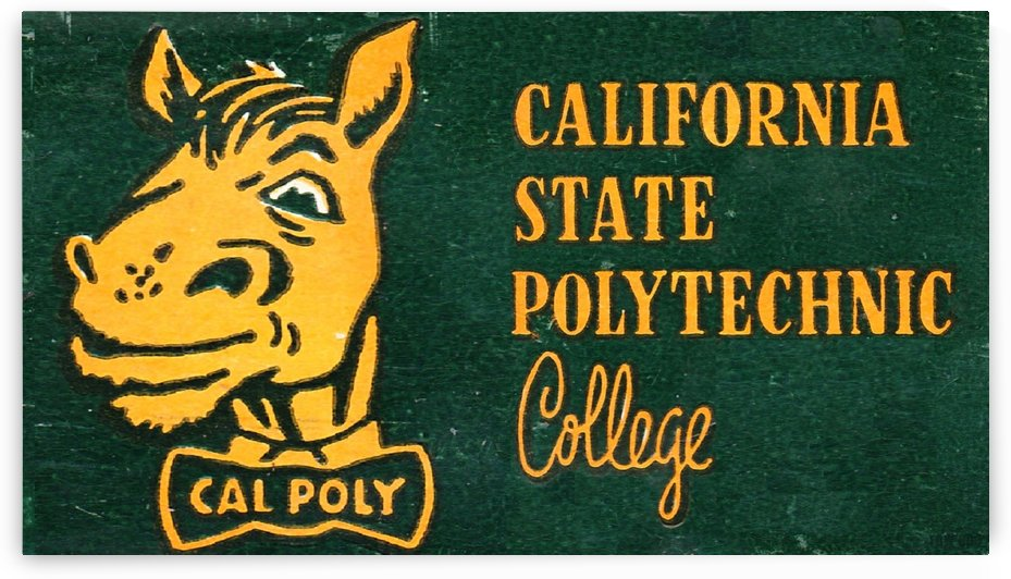 1955 California State Polytechnic Art  by Row One Brand