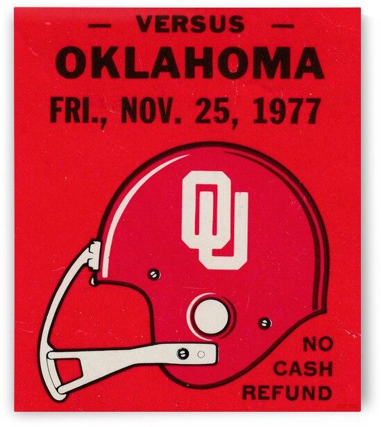 1977 Oklahoma Sooners Helmet Art by Row One Brand