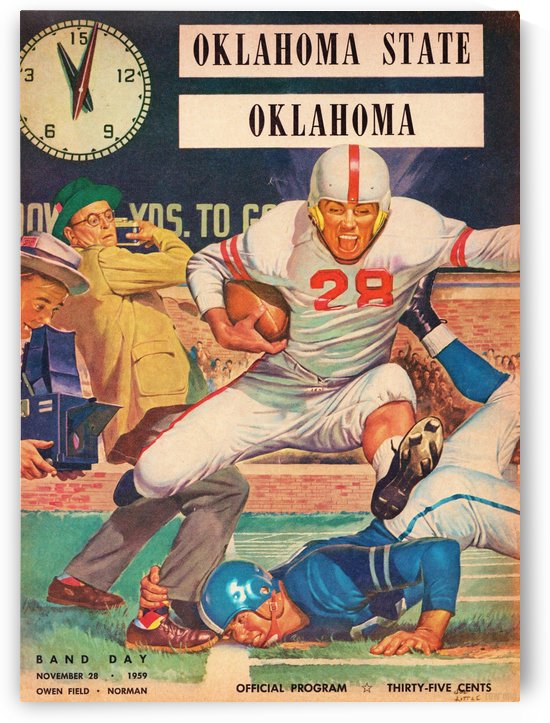 1959_College_Football_Oklahoma State vs. Oklahoma_Owen Field_Norman_Row One Brand by Row One Brand
