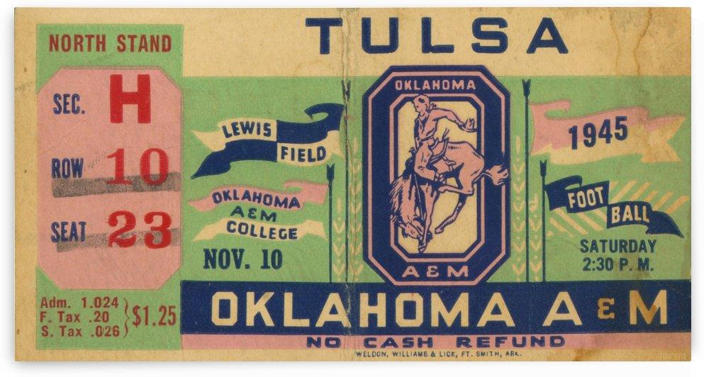 1945 Oklahoma A&M vs. Tulsa by Row One Brand