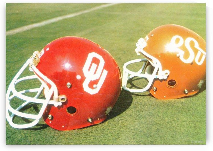 1978 Oklahoma Sooners OSU Cowboys Football Helmet Art Row One Brand by Row One Brand