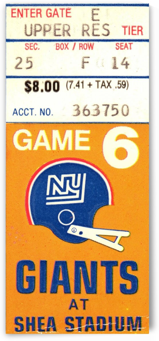 1970 New York Giants  by Row One Brand