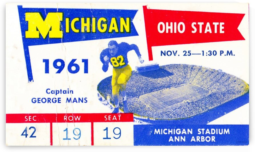 1961_College_Football_Ohio State vs. Michigan_Michigan Stadium_Ann Arbor_Row One Brand by Row One Brand