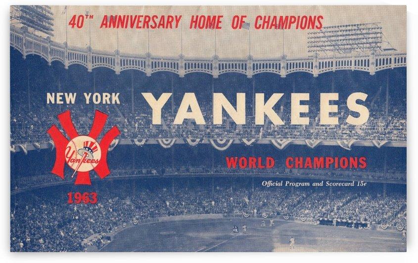 1963 New York Yankees Baseball Art  by Row One Brand