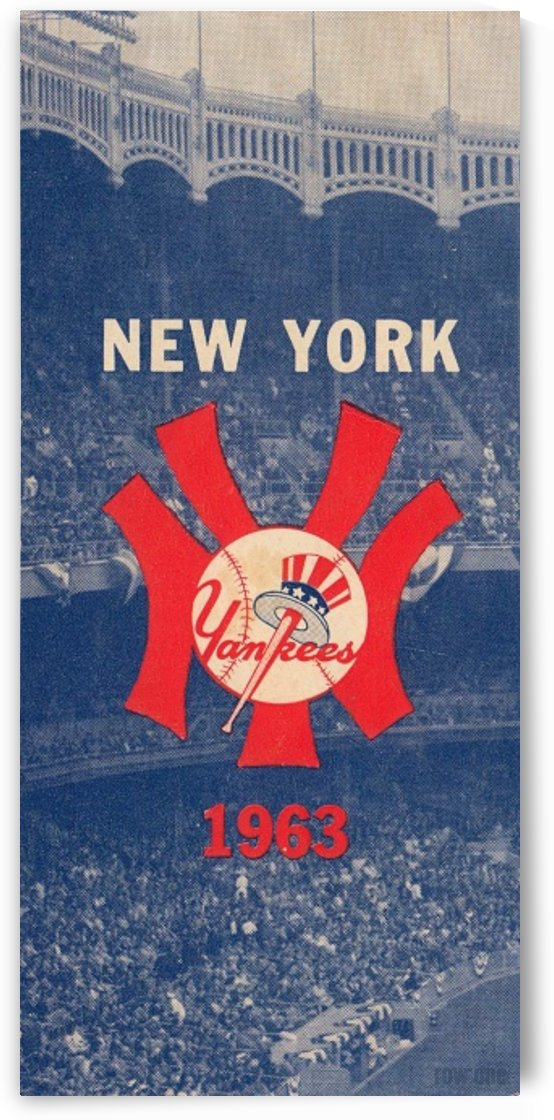 1963 New York Yankees Baseball Cover Art by Row One Brand  by Row One Brand