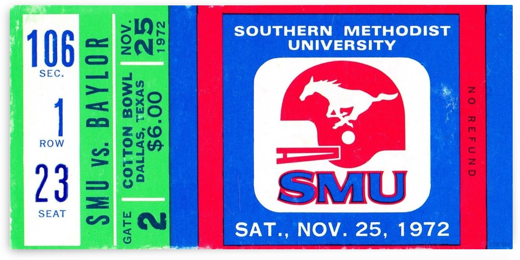 1972_College_Football_Baylor vs. SMU_Cotton Bowl Stadium_Dallas_Row One Brand by Row One Brand