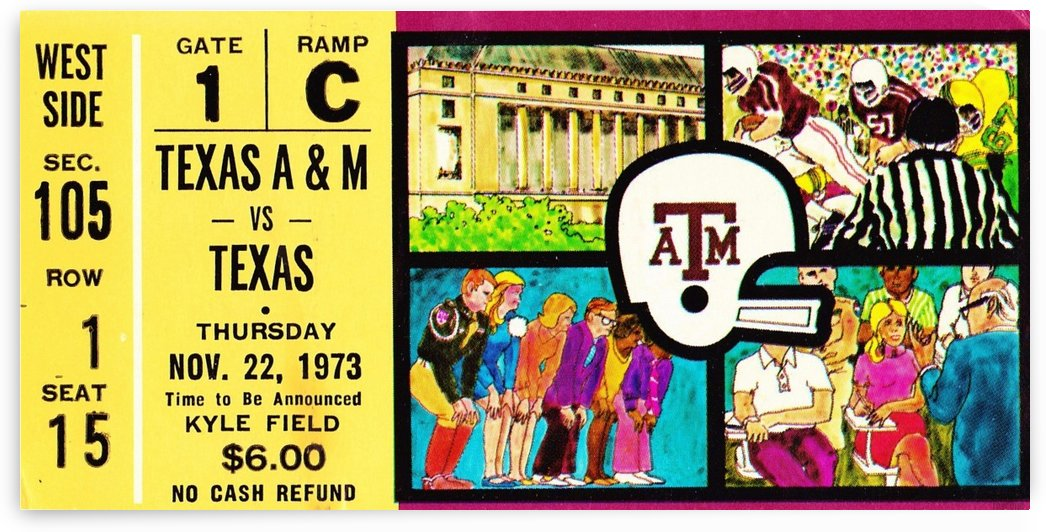 1973_College_Football_Texas vs. Texas A&M_Kyle Field_College Station_Row One Brand by Row One Brand