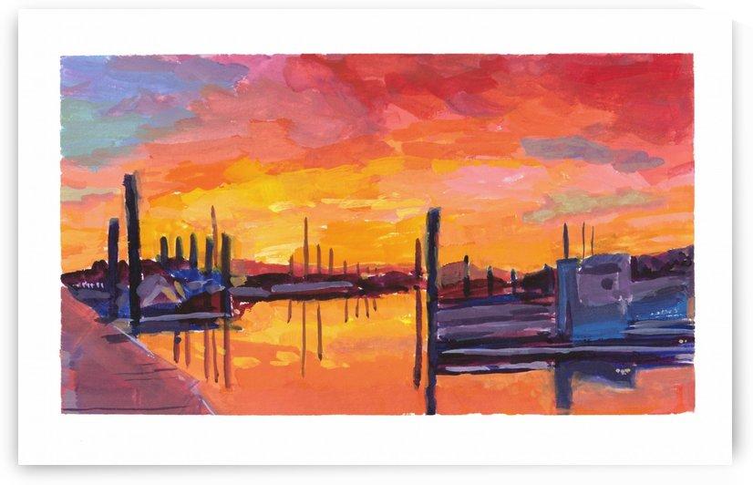 Bodega Bay Sunset by Marie Santos - M Santos Art